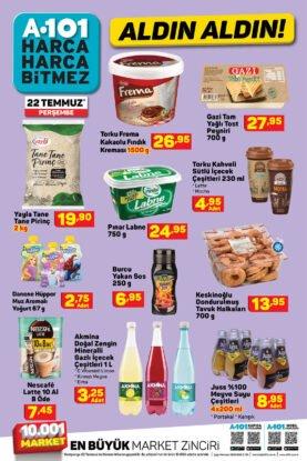 تخفيضات ماركت يوزبير A101 على المواد الغذائية