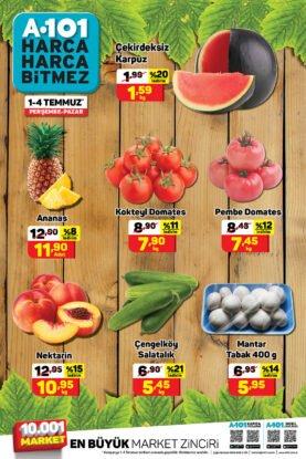 تخفيضات يوز بير A101 على الفواكه والخضروات والبطيخ