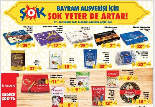 تخفيضات متجر الشوك ŞOK على الحلويات والشوكولا