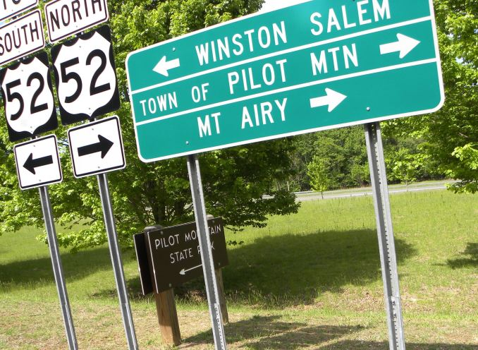 There is also the Town of Pilot Mountain!