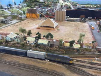 Part of the model train village