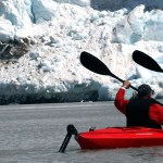 Alaska: kayaking to glacier. Copyright Donnelle Oxley