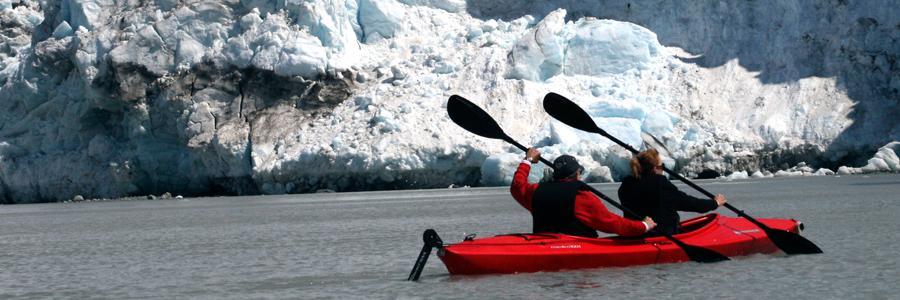 Alaska: kayaking to glacier. Copyright Donnelle Oxley