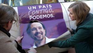 Taxistas piden el voto para Podemos
