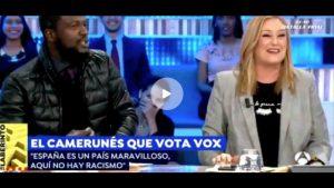 Camerunés de VOX a Elisa Beni «si no le gusta este país, márchese»