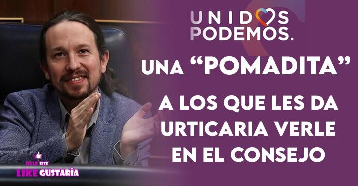 """Una """"pomadita"""" recomendó Iglesias a quienes sufren  urticaria por ver a Podemos gobernando en España"""