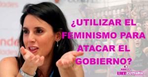 """Irene Montero al PP: """"Pónganse a trabajar y dejen de usar el feminismo para atacar al Gobierno"""""""
