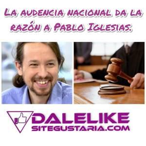 Pablo Iglesias estará como perjudicado en el Caso Dina.
