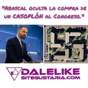 Abascal pide echar al gobierno por delincuente mientras oculta un chalet por valor de 736.000€ al congreso.
