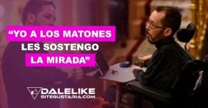 "Pablo Echenique responde con fuerza a Abascal: ""Yo a los matones les sostengo la mirada"""