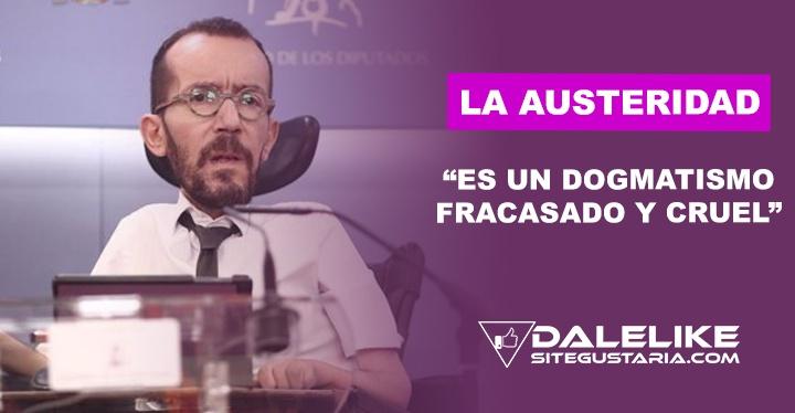Pablo Echenique: El acuerdo histórico con la UE envía al basurero el terraplanismo económico de la austeridad