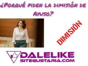 Las 3 últimas decisiones políticas por las que piden la dimisión de Isabel Díaz Ayuso.