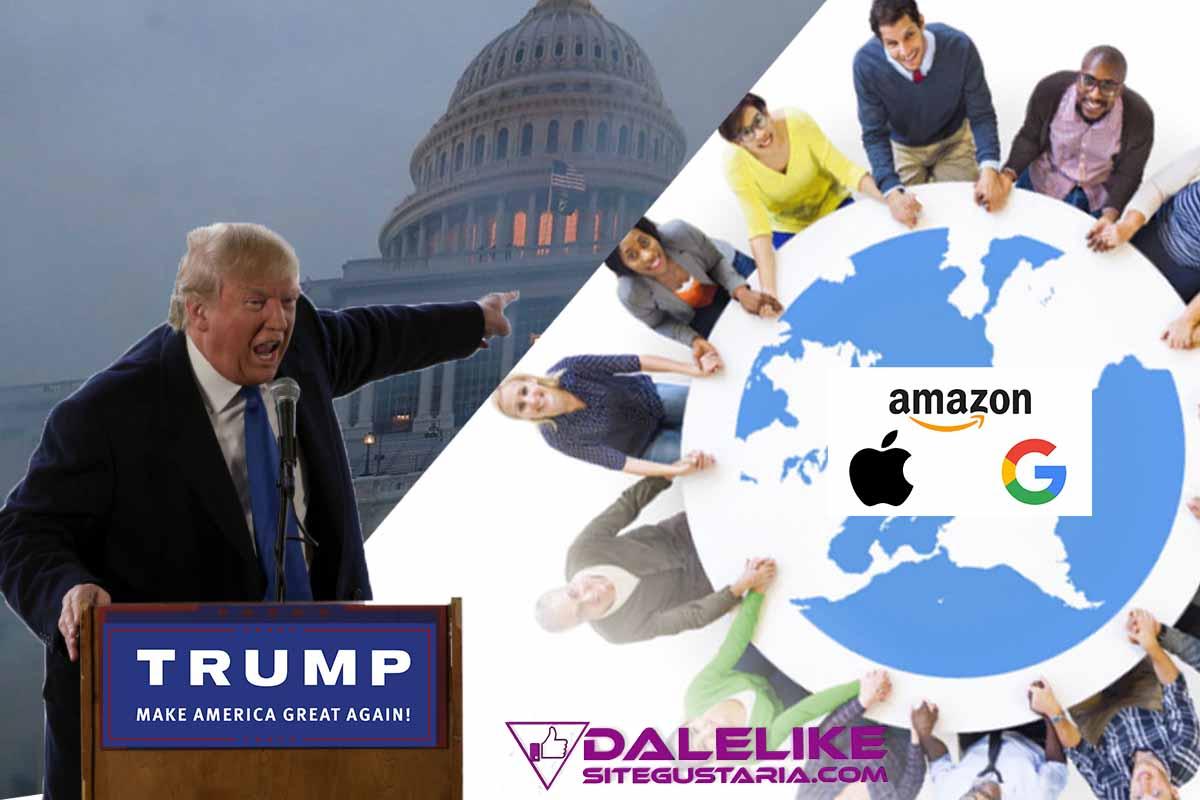 El golpista Trump consigue crear una alianza entre los grandes gigantes tecnológicos de EEUU «Apple, Amazon y Google para garantizar la democracia»