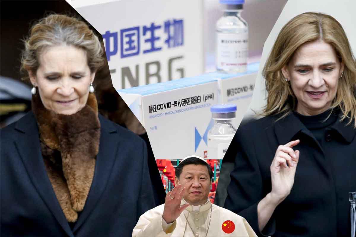 Elena y Cristina de Borbón las primeras españolas en recibir la vacuna del régimen comunista chino