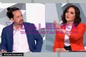 No supo que contestarle | Así humilló Iglesias a Ayuso durante el debate celebrado en Telemadrid