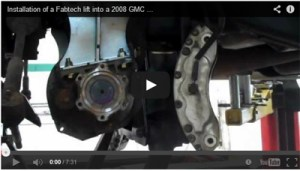 Installation of a Fabtech lift into a 2008 GMC Sierra