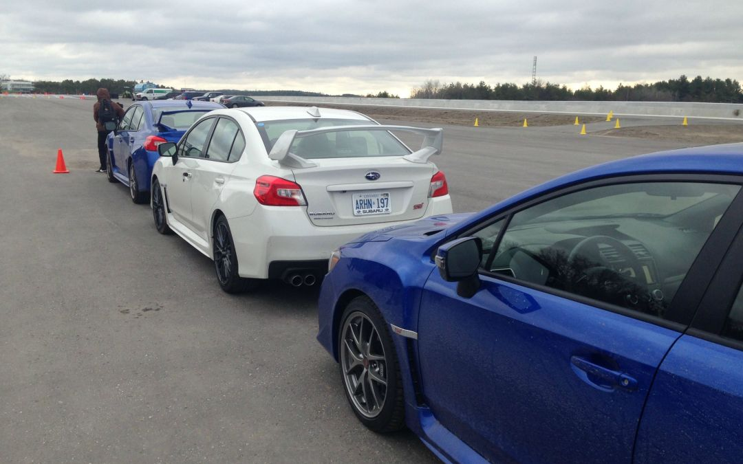 Subaru Canada and get first hand track time with Subaru team drivers.