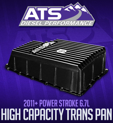 ATS Diesel Performance High Capacity Transmission Pan: 2011+ Ford, 6R140