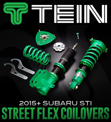 New Parts at dales- Tein Street Flex Coilovers : 2015+ Subaru STI and Go Fast Bits DV+ Blow Off Valve : Dodge, BMW and Fiat Applications