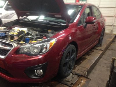 "2013 Subaru Impreza service- air-box/filter we're a ""bit dirty""!"