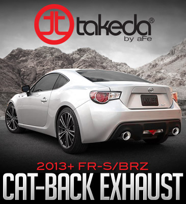 Takeda cat-back exhaust system for the 2013-2015 Scion FR-S/Subaru BRZ