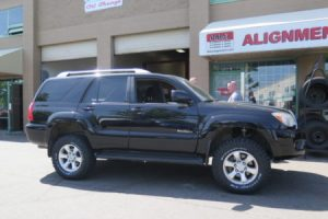 2008 Toyota 4-Runner with a Toytec 3″ Lift W/ Bilstein 5100 Front Coilovers and BFG All-Terrains at Dales Auto Service