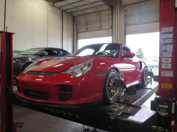 Modified 996TT in for Ohlin DFV Coilovers