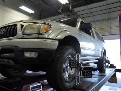 2004 Toyota Tacoma in for Bilstein 5100 Leveling Struts/Shocks at Dales Auto Service