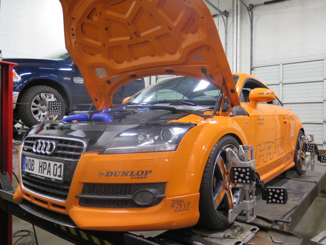 Hpa Motorsport Audi Tt In For An Alignment Set Up At Dales Auto