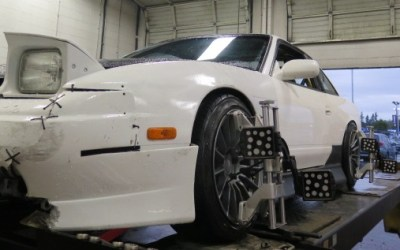 240SX Drift Car in for an Alignment Set-up