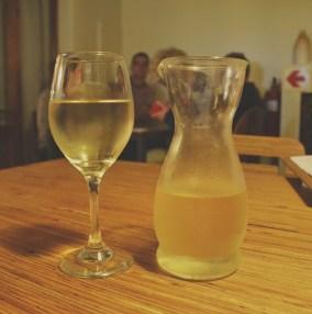 Wine served in a Carafe