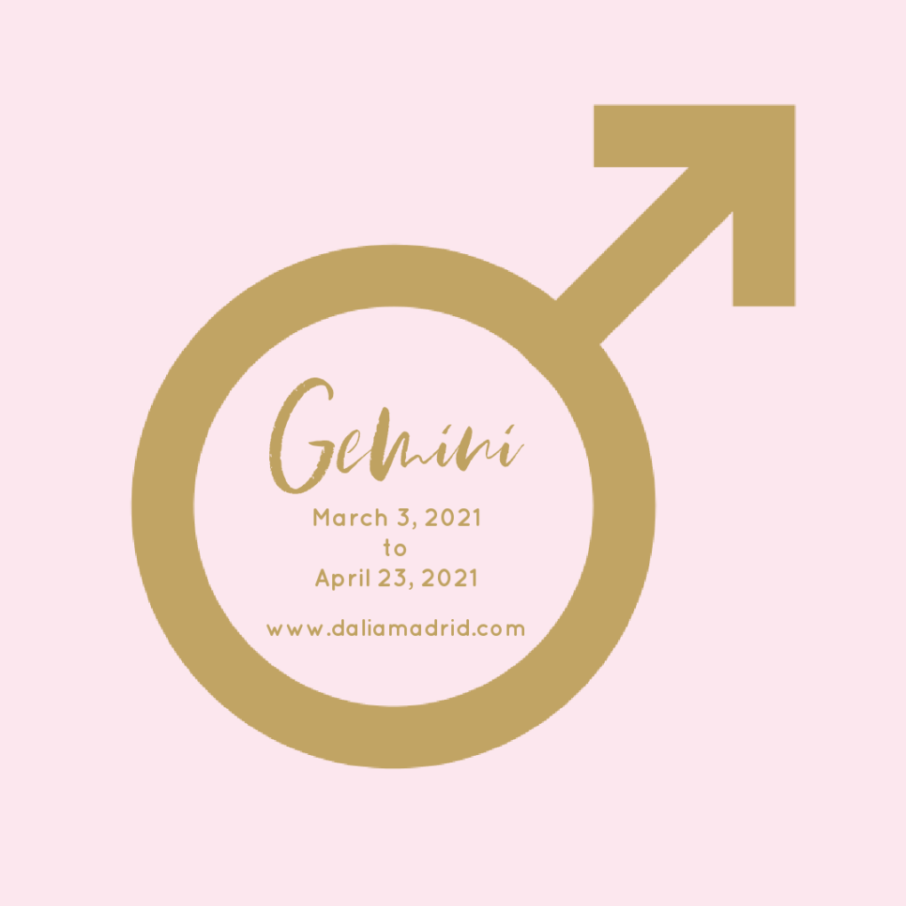 Mars in Gemini from March 3, 2021 until April 23, 2021