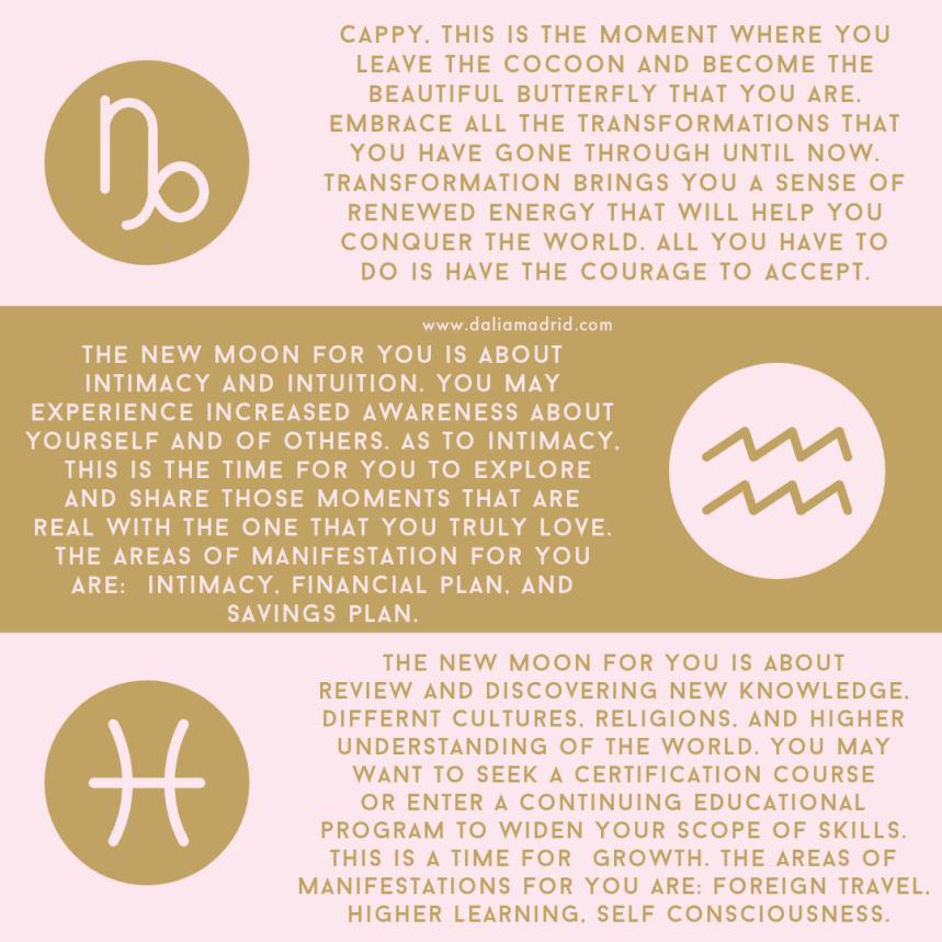 Capricorn, Aquarius, and Pisces Horoscopes