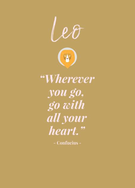 Leo Love Quote