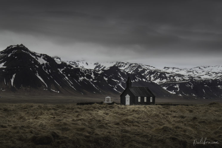 Don't get your camera out too early! I did some fair amount of walking around the black church in Buda, Iceland before I settled on this sweet photography spot