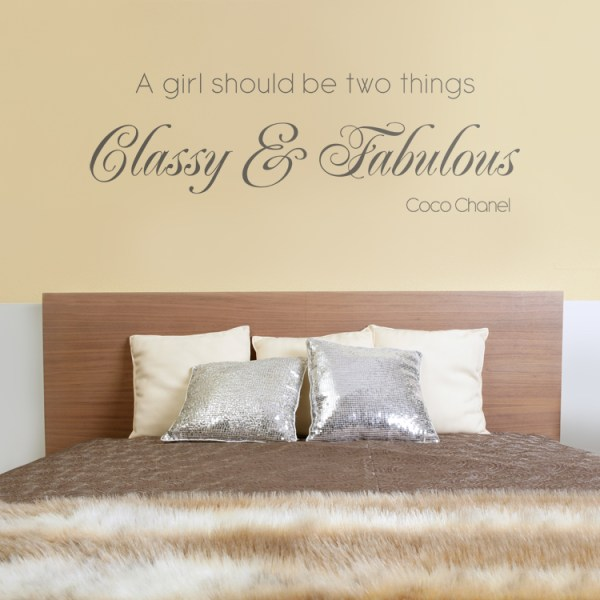 Classy & Fabulous - Quote - Wall Decals Stickers Graphics