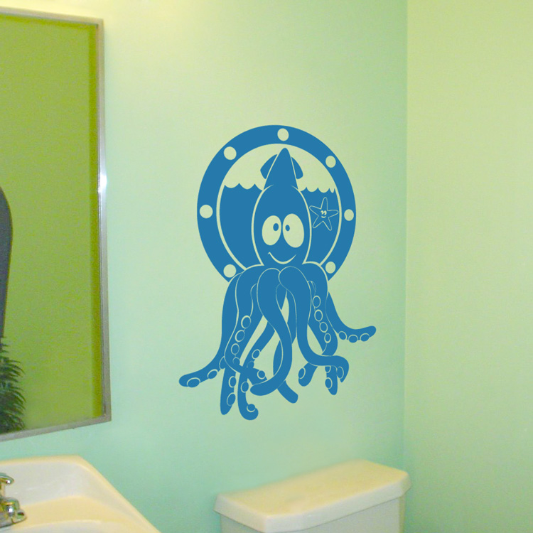 Squid And Starfish Friends Wall Decal
