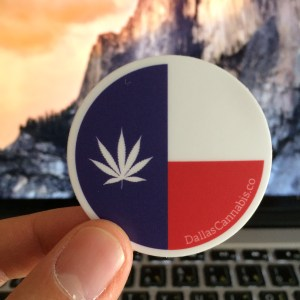 Dallas Cannabis Company Flag Sticker