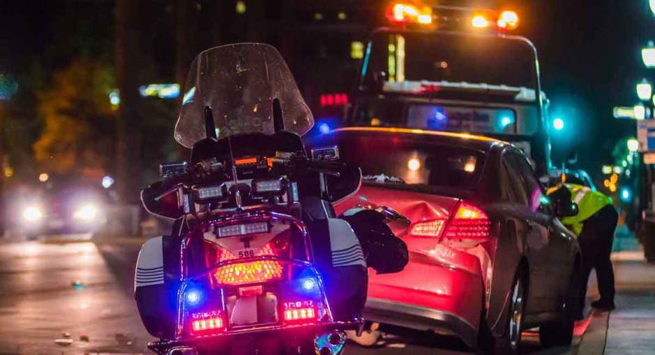 Vehicle accident with motorcycle police. Diminished Value of a Vehicle
