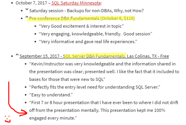 DBA Fundamentals comments