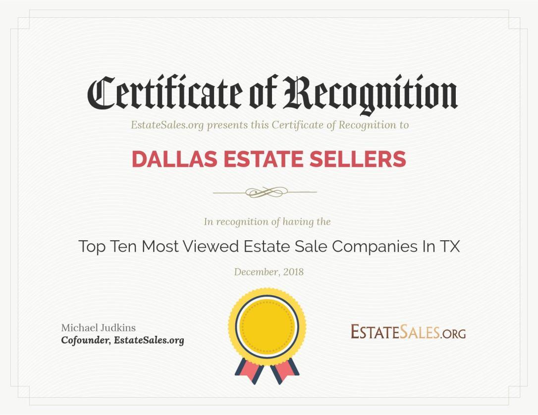 Top Rated Estate Sales Company – Dallas, TX