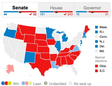 2014 US Election Results Washington Post