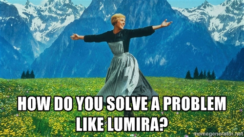 How do you solve a problem like Lumira?