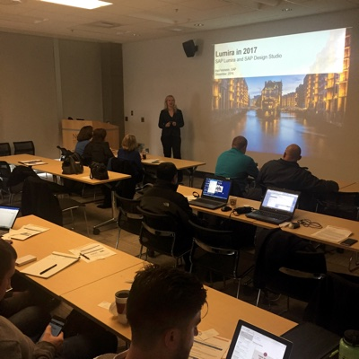 Ina Felsheim introduces SAP Lumira 2.0 at ASUG Developer Tools Day 2016