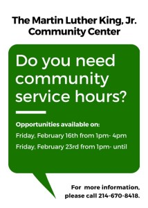 Social Services Appointment Line Open @ MLK, Jr. Community Center