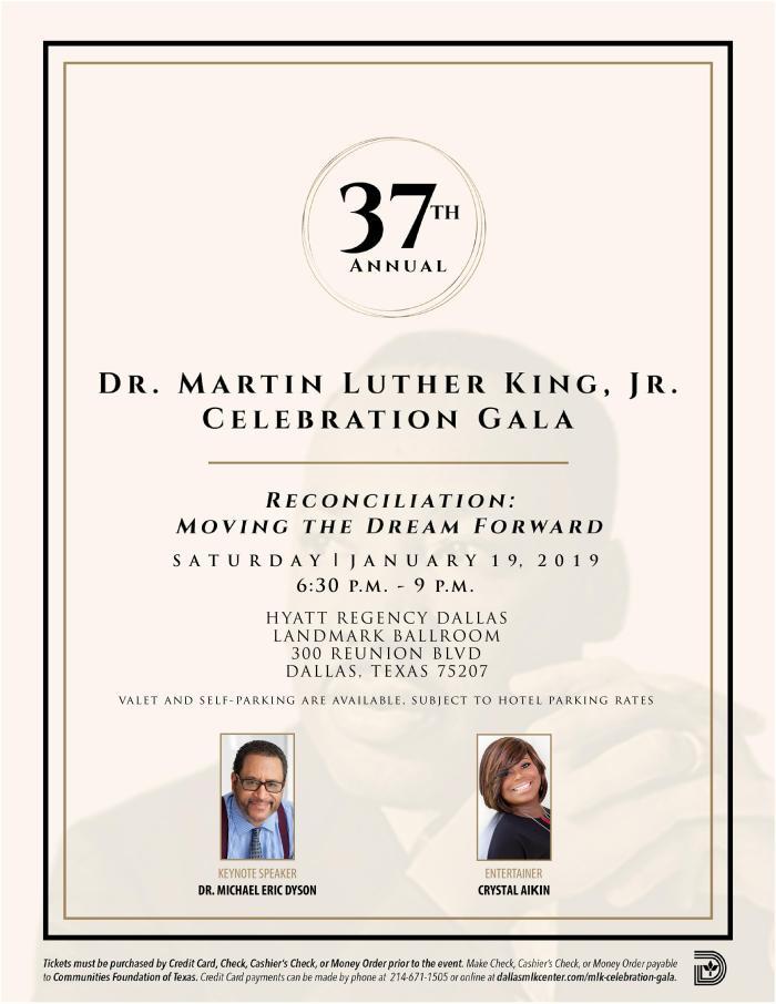 37th Annual Dr. Martin Luther King, Jr. Celebration Gala @ Hyatt Regency Dallas