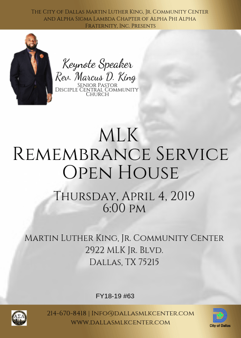 MLK Remembrance Service & Open House @ Martin Luther King, Jr. Community Center