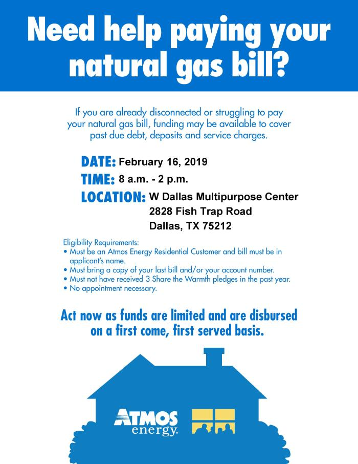 Atmos Energy Assistance @ West Dallas Multipurpose Center