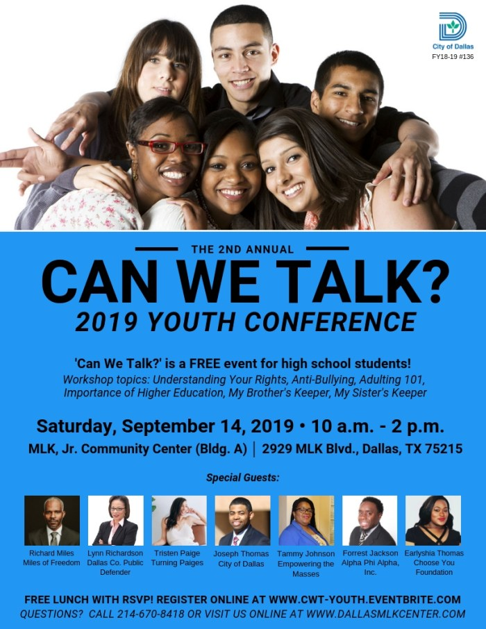 Can We Talk? Youth Conference @ MLK, Jr. Community Center (Bldg. A)