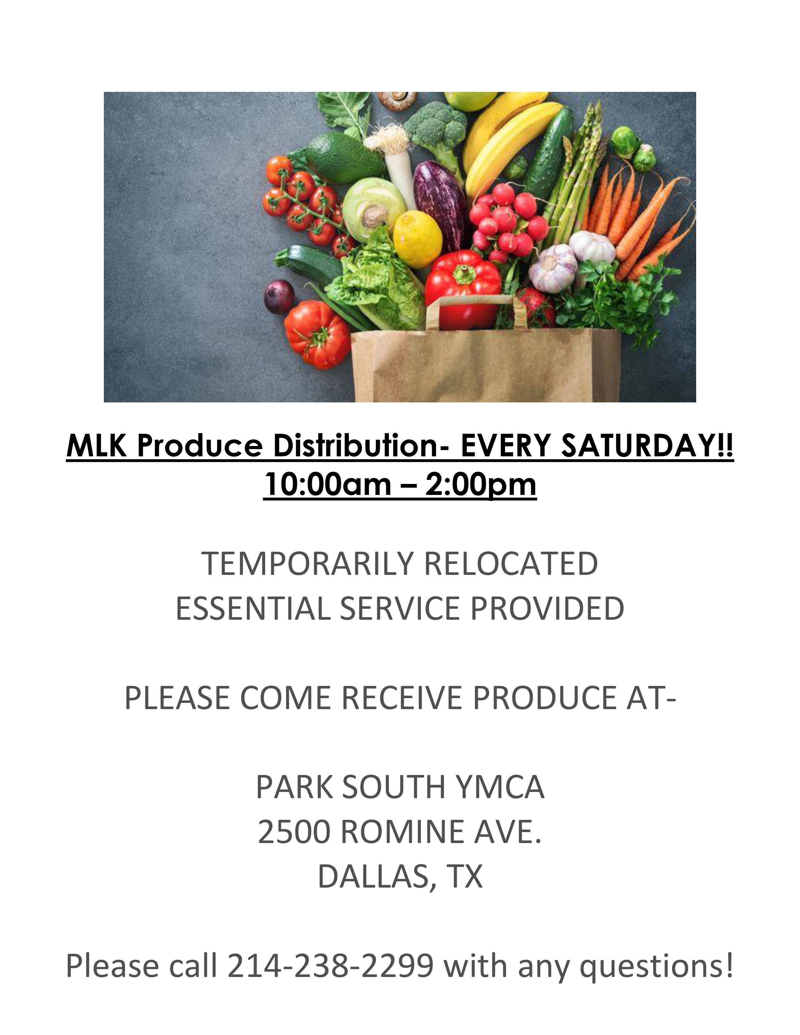 MLK Fresh Produce Distribution @ Park South YMCA